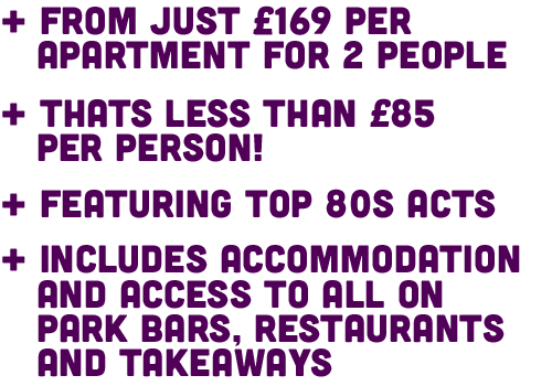 From Just £169 Per Apartment, that's less than £85 per person.