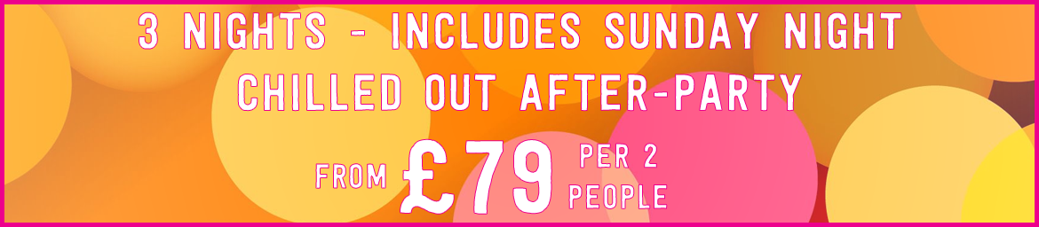 48 Hour Party - 90's Weekender, from £79 Per 2 People